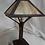 Thumbnail: Oak table Lamp with caramel slag glass shade