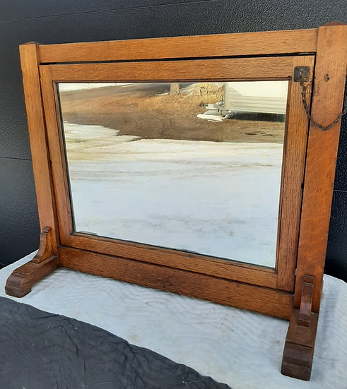 Vintage Commercial Mirror, Shoe Store, two sided