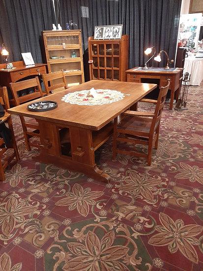 L&JG StickleyTrestle Table, #594