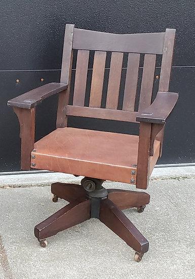 SOLD      Gustav Stickley V-Back office chair