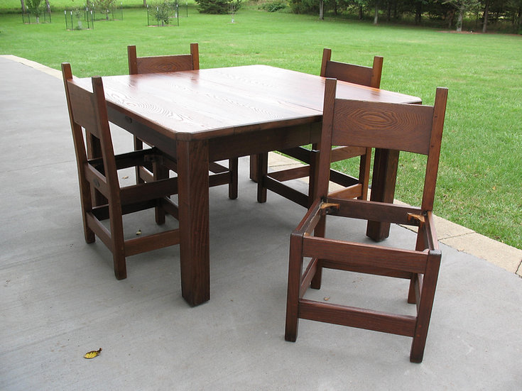 Tobey Dining Room Set in Chestnut, by Leopold Stickley