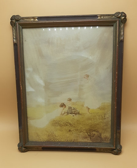 Vintage Frame with Mother and Child print