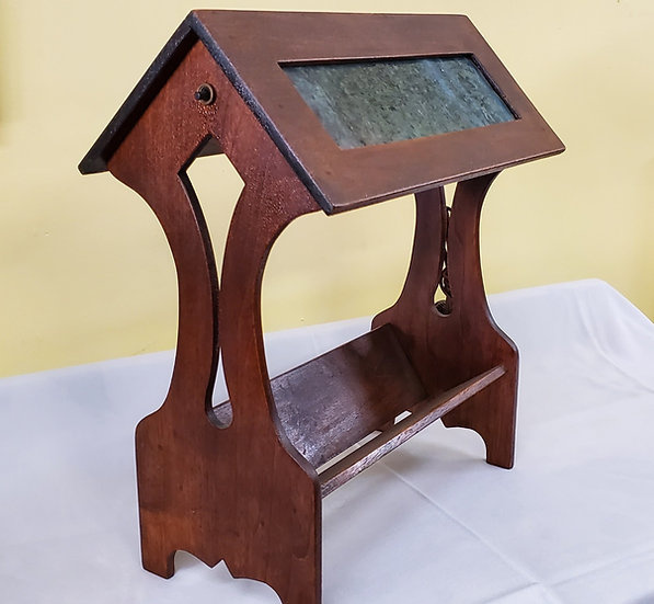 SOLD      Wooden Mission Lamp
