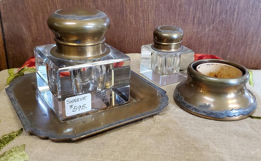 Shreve 4 piece Inkwell Desk Set