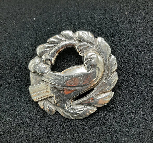 Sterling Pin with Bird