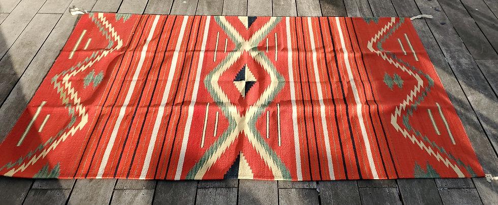"Vintage Navajo ""Eye Dazzler"" Blanket/Rug"