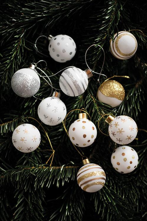 RÄDER - Weihnachtskugeln Set aus 4