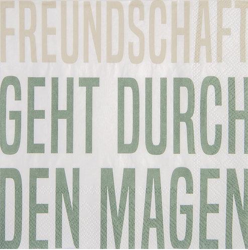 """RÄDER - Servietten """"Freundschaft geht durch den Magen"""""""
