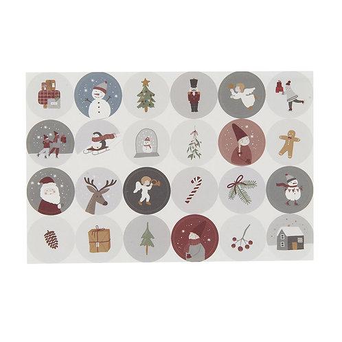 Ib Laursen - Sticker Weihnachten 24 Stück