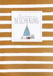 """RÄDER - Weihnachtsgruß Klappkarte """"schöne Bescherung"""""""
