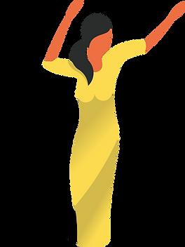 Tanzen-Frau