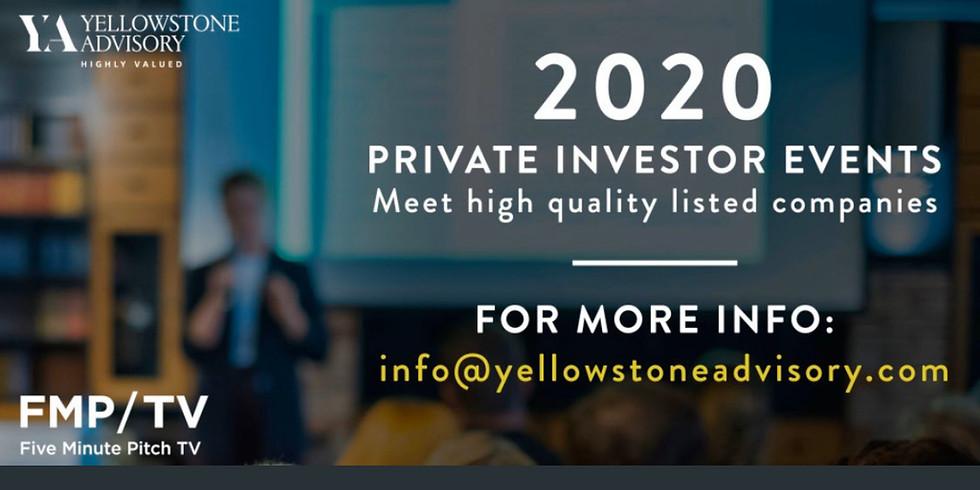 Private Investor Evening  - Monday 27th April - postponed