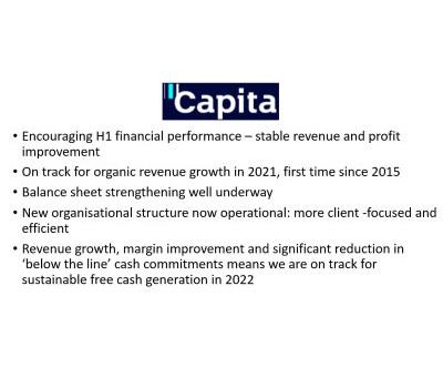 Capita - Making Encouraging Progress