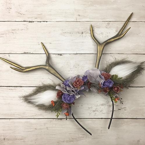Lilac Dream Handmade Antler Headband