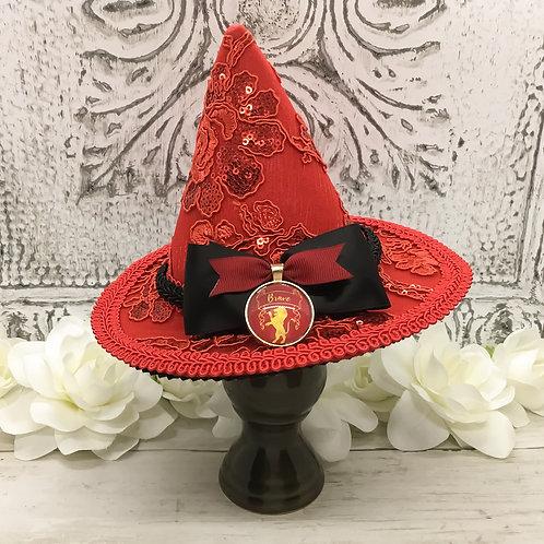 Brave Lion Sequin Mini Witch Hat