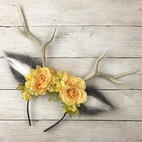 Yellow Rose Handmade Antler Headbands