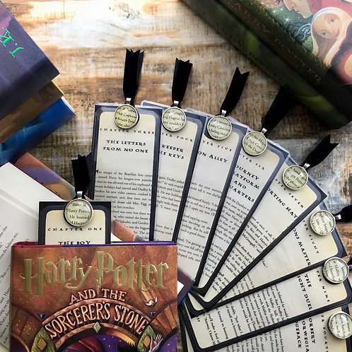 Harry Potter Sorcerer's Stone Chapter Page Bookmarks