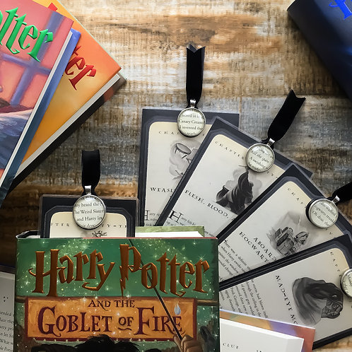 Harry Potter Goblet of Fire Chapter Page Bookmarks