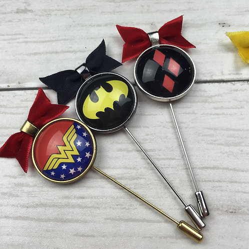 Super Hero Lapel Pins