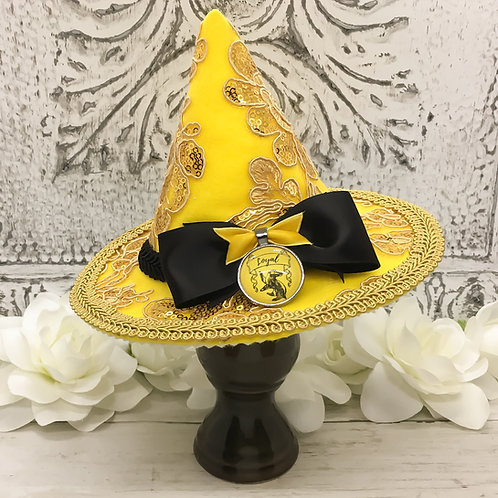 Loyal Badger Sequin Mini Witch Hat