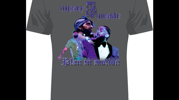 Grey 'Nipsey Hussle Print' T-shirt