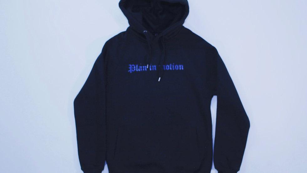 Black  'Blue Bandana Print' Hoody