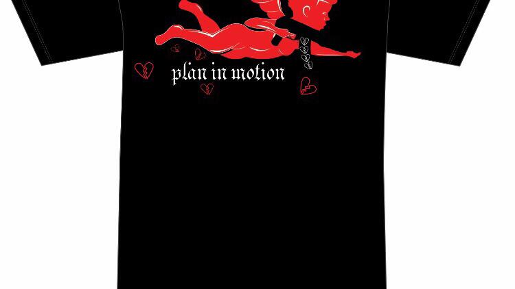 Black 'Cupid Draco' T- Shirt