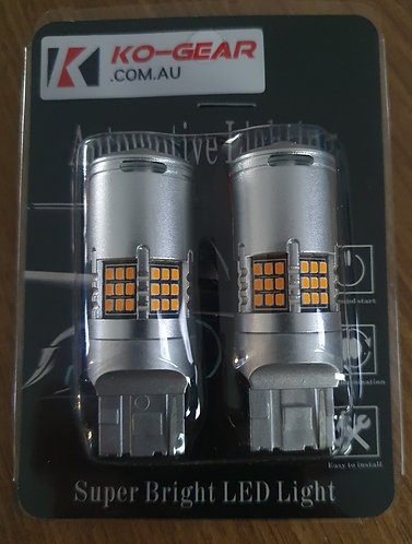 K1 v2 LED Yellow-T20 7440 NoHyperFlash canbus Indicator Globe (pair)
