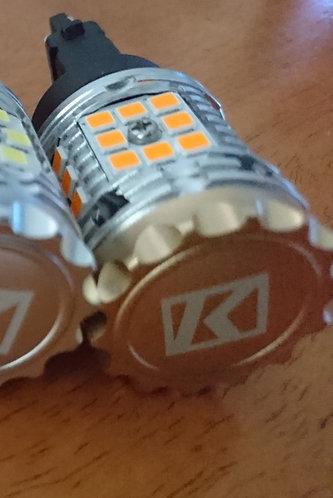 K1 LED Yellow - 3157 NoHyperFlash canbus Indicator Globe (pair)