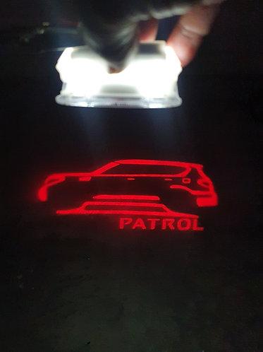 Projector Door Lights -RED Y62 Patrol-(Pair)