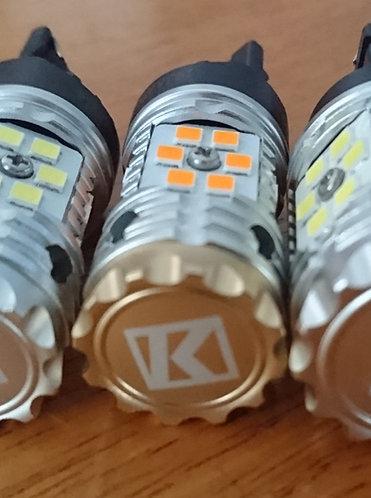 K1 LED Yellow-T20 7440 NoHyperFlash canbus Indicator Globe (pair)