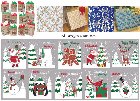 Christmas wrapping designs for JoieDomi