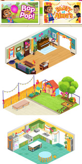 Set Dressings for PBS Kids game