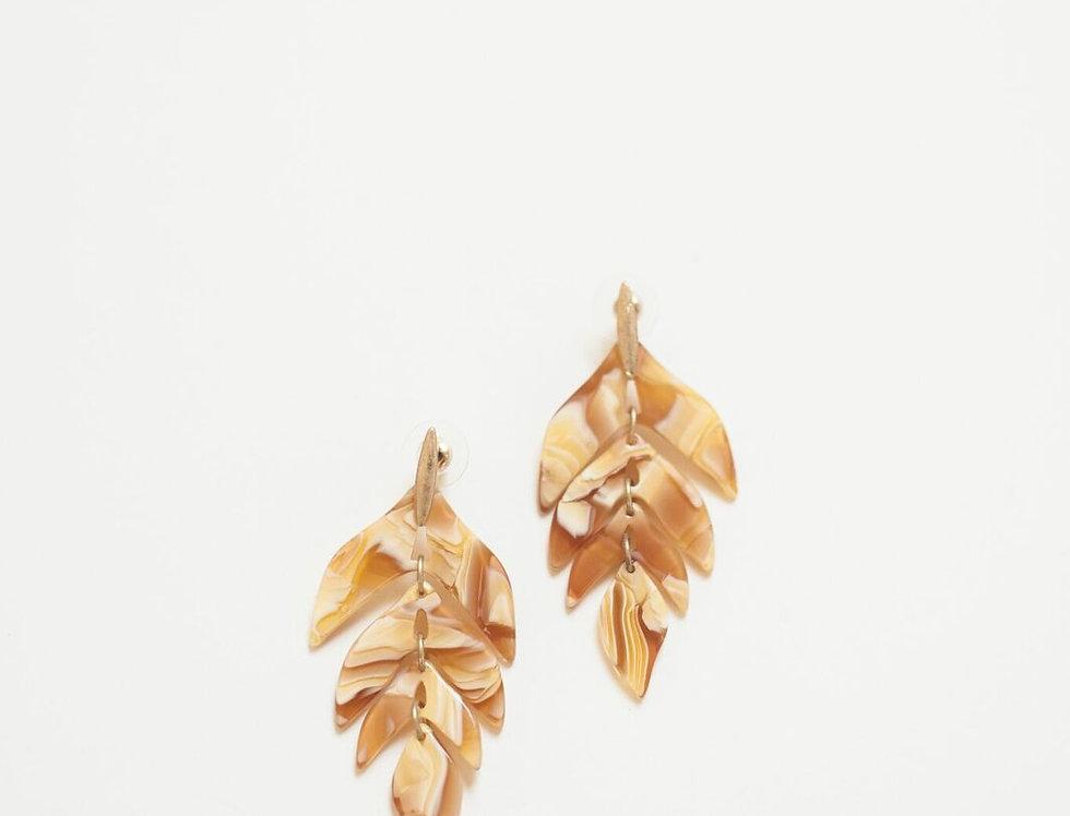 Mustard Leaf Earrings