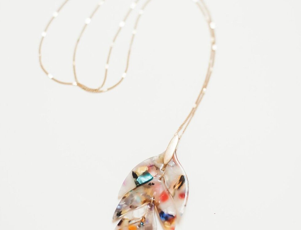 Multi Leaf Necklace
