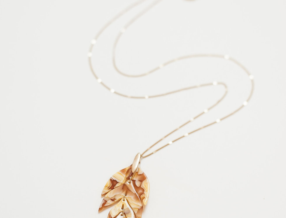 Mustard Leaf Necklace