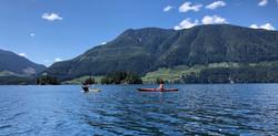 Borrow the kayaks