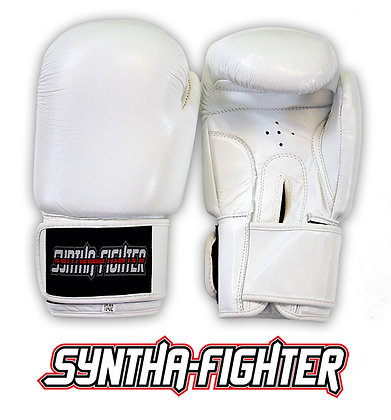 Syntha-Fighter Boxing Gloves - WHITE