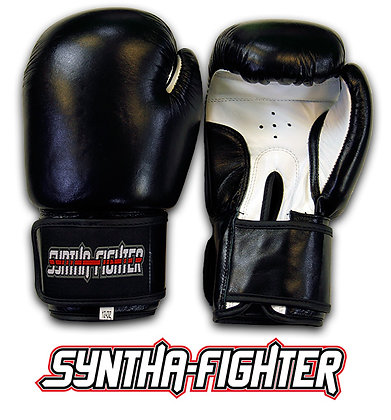 Syntha-Fighter Boxing Gloves - BLACK