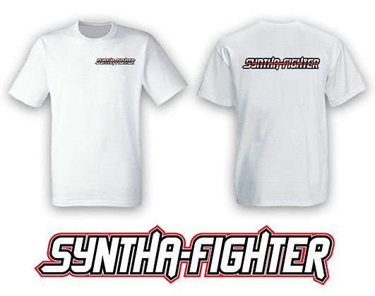 Syntha-Fighter - T-Shirt - WHITE-Large only