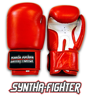 Syntha-Fighter Boxing Gloves - RED