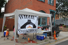 Willie's Smokehouse is set up with good eats at the Gate City Music Festival, Raton, NM - Raton, New Mexico
