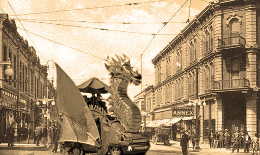 Dragon Art Car in Historic Trinidad, by Dean Sneed
