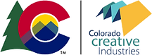 Official CCI logo containing combination of Colorado state logo and CO Creative Industries logo