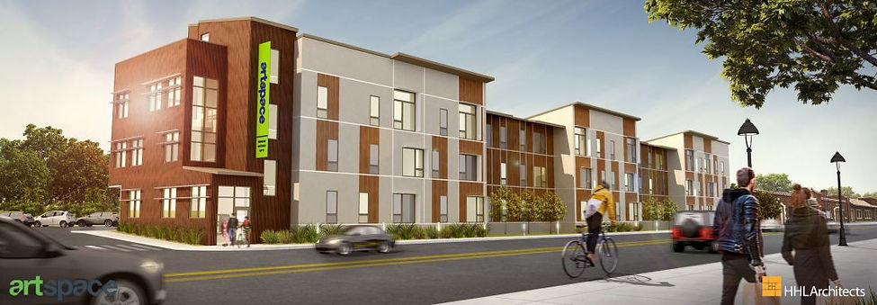 Artspace architectural rendering for residences on Elm Street