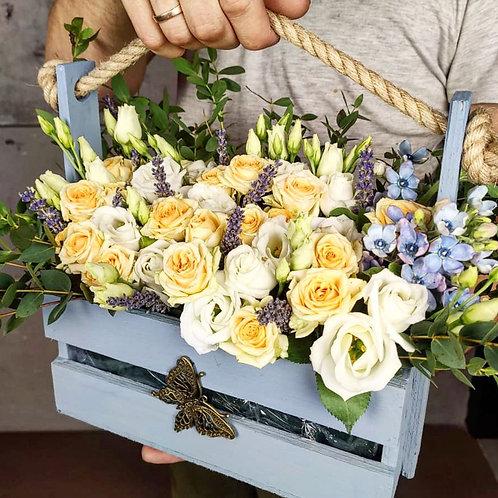Цветы в боксе Лагуна
