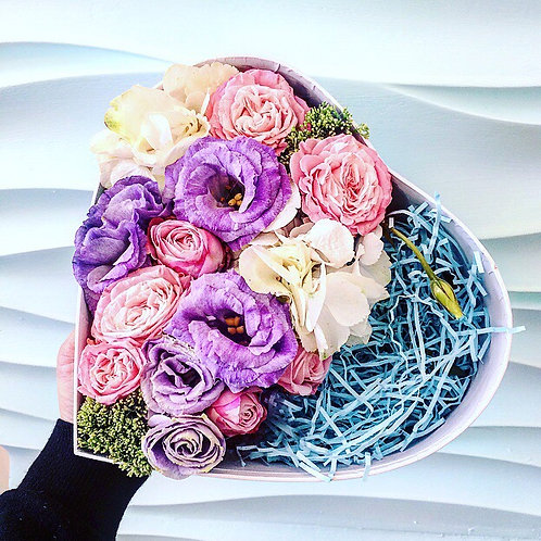Цветы в коробочке Хеппи