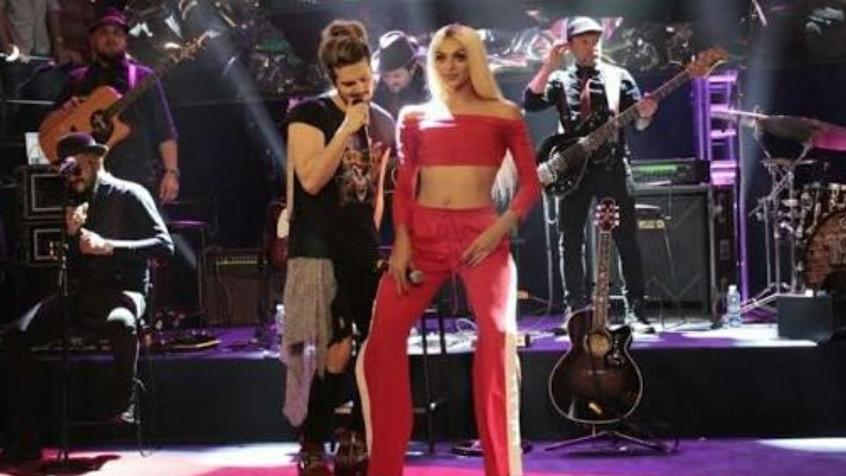 Luan Santana e Pabllo Vittar fazem dueto, dançam juntos e prometem parceria