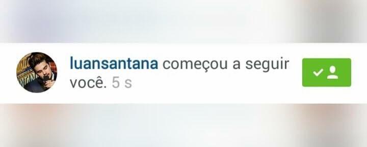 Luan Santana seguiu o Spies Santana no dia 15 de novembro de 2015. Nessa época ele aina era um Fãs Clube.