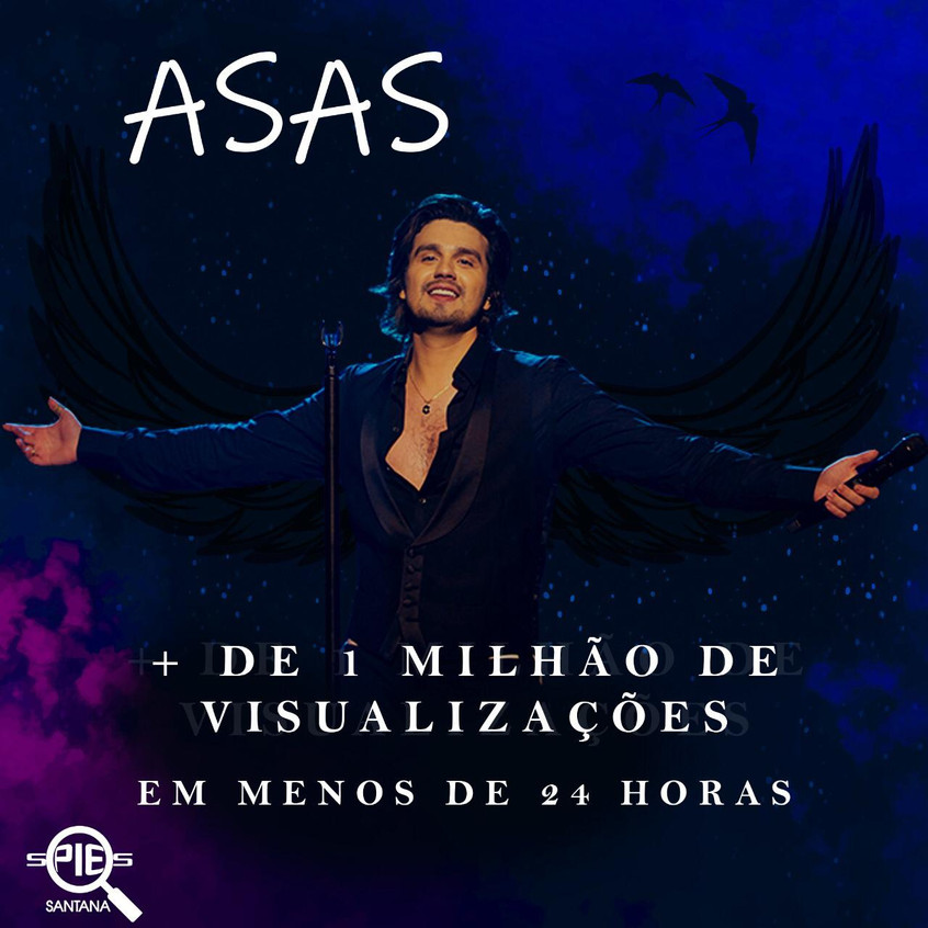 """Clipe """"Asas"""" de Luan Santana bate um milhão de visualizações no dia de lançamento"""